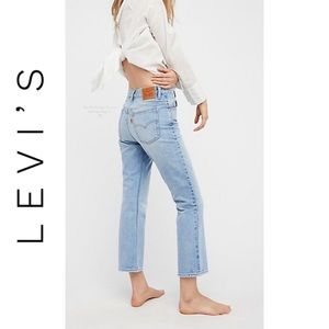 NEW Levi's 517 Orange Tab Bootcut Cropped Jeans